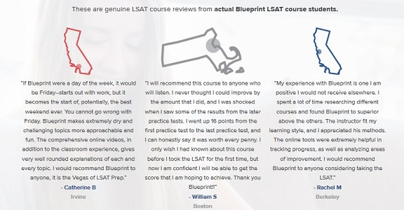 Blueprint LSAT testimonial