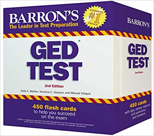 Barron's GED Test 450 Flash Cards